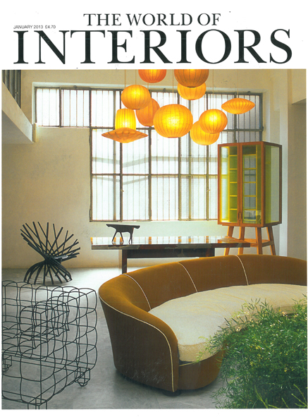 THE WORLD OF INTERIORS  JANUARY 2013