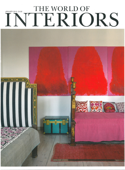 THE WORLD OF INTERIORS  JANUARY 2015